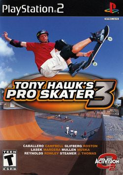 Box artwork for Tony Hawk's Pro Skater 3.