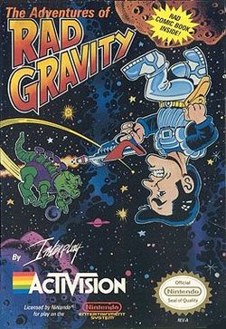 Box artwork for The Adventures of Rad Gravity.