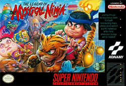 Box artwork for The Legend of the Mystical Ninja.