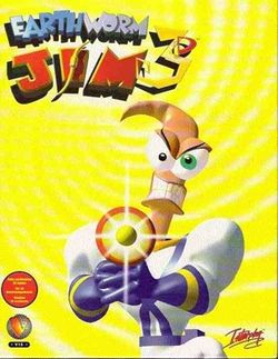 Box artwork for Earthworm Jim 3D.