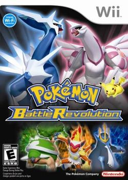 Box artwork for Pokémon Battle Revolution.