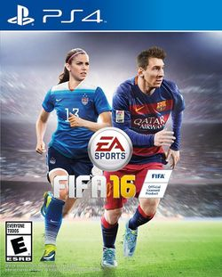 Box artwork for FIFA 16.