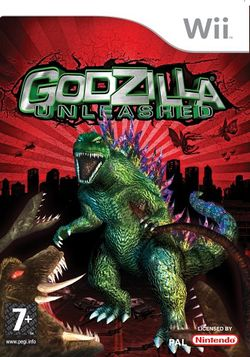 Box artwork for Godzilla: Unleashed.