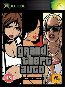 Box artwork for Grand Theft Auto: The Trilogy.