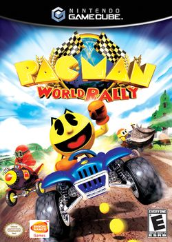 Box artwork for Pac-Man World Rally.