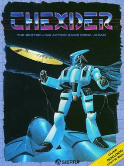 Box artwork for Thexder.