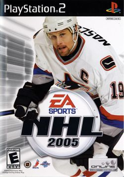 Box artwork for NHL 2005.