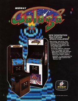 Box artwork for Galaga.