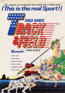 Box artwork for Track & Field.