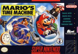 Box artwork for Mario's Time Machine.