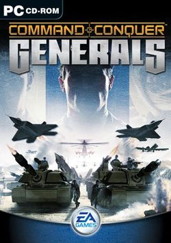 Box artwork for Command & Conquer: Generals.