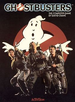 Box artwork for Ghostbusters.