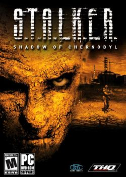 Box artwork for S.T.A.L.K.E.R.: Shadow of Chernobyl.
