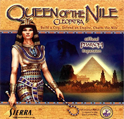 Box artwork for Cleopatra: Queen of the Nile.