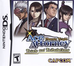 Box artwork for Phoenix Wright: Ace Attorney - Trials and Tribulations.