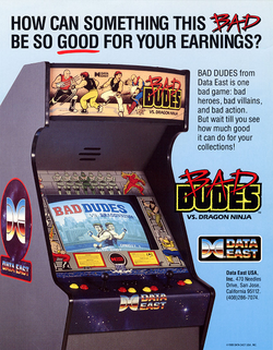 Box artwork for Bad Dudes Vs. DragonNinja.