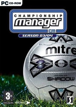 Box artwork for Championship Manager 03/04.