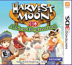 Box artwork for Harvest Moon: A New Beginning.