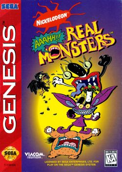 Box artwork for Aaahh!!! Real Monsters.