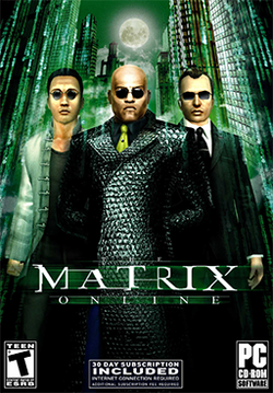 Box artwork for The Matrix Online.