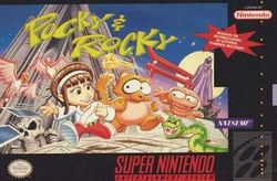 Box artwork for Pocky & Rocky.