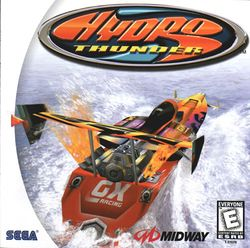 Box artwork for Hydro Thunder.