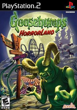 Box artwork for Goosebumps HorrorLand.
