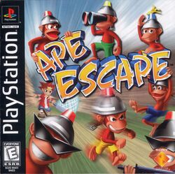 Box artwork for Ape Escape.