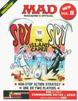 Box artwork for Spy vs. Spy II: The Island Caper.