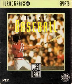 Box artwork for World Class Baseball.