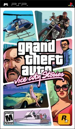Box artwork for Grand Theft Auto: Vice City Stories.
