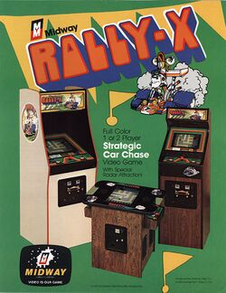 Box artwork for Rally-X.