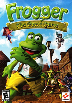 Box artwork for Frogger: The Great Quest.