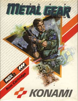 Box artwork for Metal Gear.