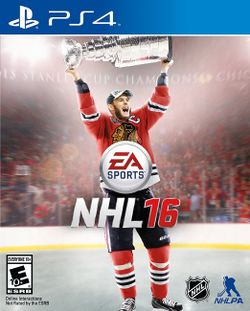 Box artwork for NHL 16.