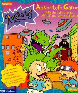 Box artwork for Rugrats Adventure Game.