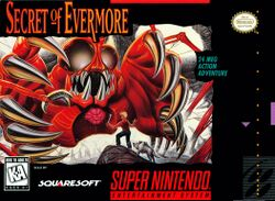 Box artwork for Secret of Evermore.