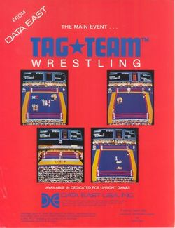Box artwork for Tag Team Wrestling.