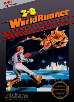 Box artwork for The 3-D Battles of WorldRunner.