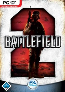 Box artwork for Battlefield 2.