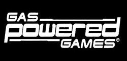 Gas Powered Games's company logo.