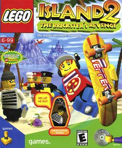 Box artwork for LEGO Island 2: The Brickster's Revenge.