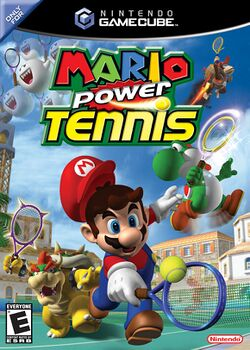 Box artwork for Mario Power Tennis.
