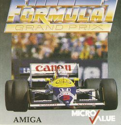 Box artwork for Formula 1 Grand Prix.