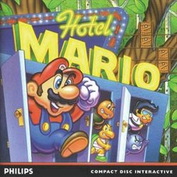 Box artwork for Hotel Mario.