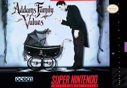 Box artwork for Addams Family Values.