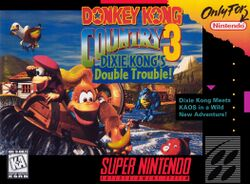 Box artwork for Donkey Kong Country 3: Dixie Kong's Double Trouble!.