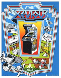 Box artwork for Xevious.