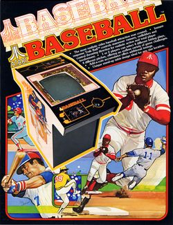 Box artwork for Atari Baseball.