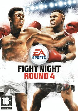 Box artwork for Fight Night Round 4.